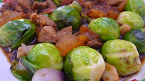 Braised Pork and Brussels Sprouts