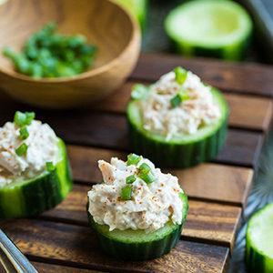 Thai Poke in Cucumber Cups
